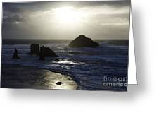 Seascape Oregon Coast 4 Greeting Card