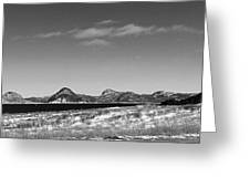 Seascape - Panorama - Black And White Greeting Card