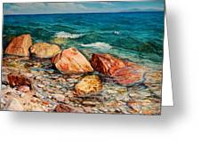 Seascape - Red Rocks  Greeting Card