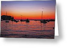 Seascape Silhouette Greeting Card