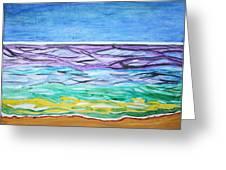 Seashore Blue Sky Greeting Card