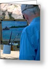 Seaside Artist Greeting Card