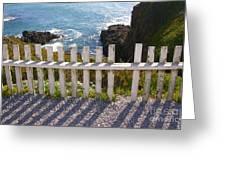 Seaside Fence Greeting Card
