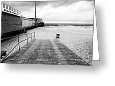 Seaside Heights Beach In Black And White Greeting Card by John Rizzuto