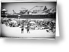 Seaside Heights Greeting Card by John Rizzuto