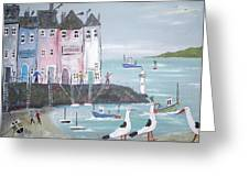 Seaside Houses Greeting Card