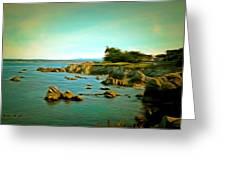 Seaside In The Distance Digital Greeting Card
