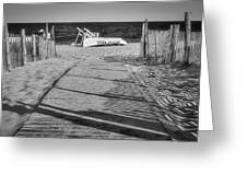 Seaside Park New Jersey Shore Bw Greeting Card