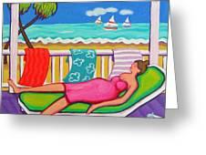 Seaside Siesta Greeting Card