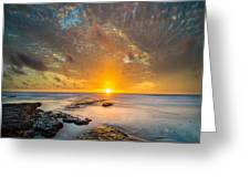 Seaside Sunset - Square Greeting Card