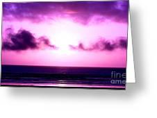 Seaside Sunset Greeting Card