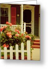 Seaside Victorian Cottage Greeting Card