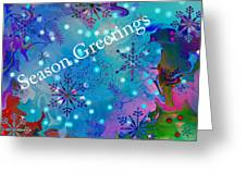 Season Greetings - Snowflakes Greeting Card