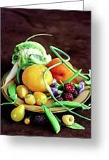 Seasonal Fruit And Vegetables Greeting Card