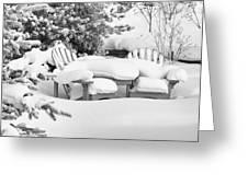 Seasonal Yard Furniture Greeting Card
