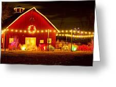 Seasons Greetings Barn Greeting Card
