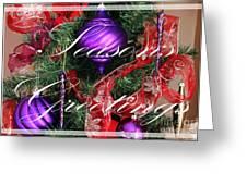 Seasons Greetings - Greeting Card - Purple - Red - Gold Greeting Card