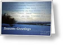 Seasons Greetings Wishes Greeting Card