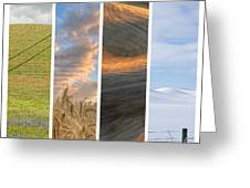 Seasons Of The Palouse II Greeting Card by Latah Trail Foundation