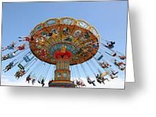 Seaswings At Santa Cruz Beach Boardwalk California 5d23901 Greeting Card by Wingsdomain Art and Photography