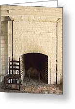 Seat By The Hearth Greeting Card by Margie Hurwich