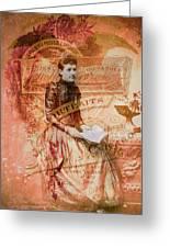 Seated Pose Greeting Card