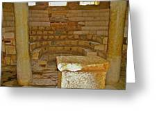 Seats For The Elders And Podium In Church Of Saint Nicholas In Myra-turkey Greeting Card