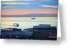 Seattle And Elliott Bay Greeting Card