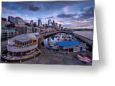 Seattle Bell Street Pier Greeting Card
