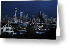 Seattle Blues Greeting Card
