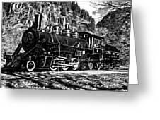Seattle City Light Train In Bw Greeting Card