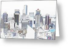 Seattle City Original Work Greeting Card