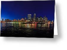 Seattle City Skyline Romance Panorama Greeting Card