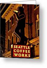 Seattle Coffee Works Greeting Card