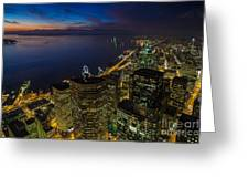Seattle Dusk Colors Greeting Card
