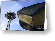Seattle Emp Building 4 Greeting Card