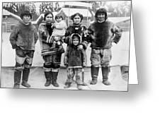 Seattle Eskimo Family Greeting Card
