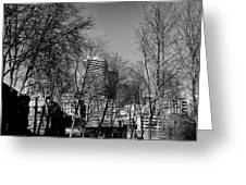 Seattle From Pioneer Square Greeting Card
