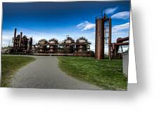 Seattle Gas Light Company Gasification Towers Greeting Card