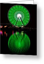 Seattle Great Wheel In Motion Greeting Card