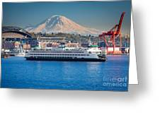 Seattle Harbor Greeting Card