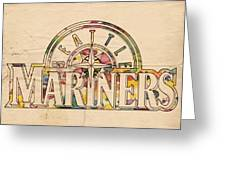 Seattle Mariners Poster Art Greeting Card