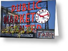 Seattle Market  Greeting Card by Brian Jannsen