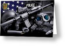 Seattle Police Greeting Card