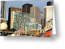 Seattle Skyline. Greeting Card