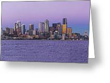 Seattle Skyline Panorama - Massive Greeting Card