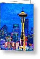Seattle Space Needle 20130115v1 Greeting Card