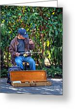 Seattle Street Musician Greeting Card