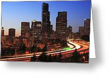Seattle Traffic Greeting Card