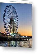Seattle Wheel Greeting Card